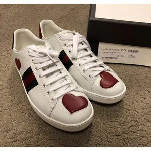 Authentic Gucci Ace heart sneaks
